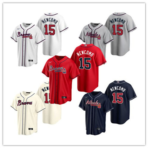 Men Sean Newcomb 2020/21 Replica White, Gray, Cream, Scarlet, Navy Blue