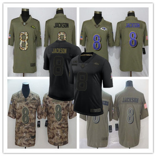 Youth Lamar Jackson Limited Salute to Service Olive, Camo, Black