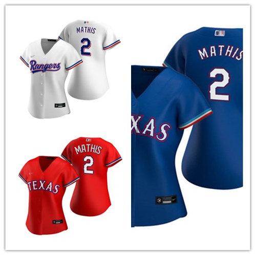 Women Jeff Mathis 2020/21 Replica White, Red, Royal Blue