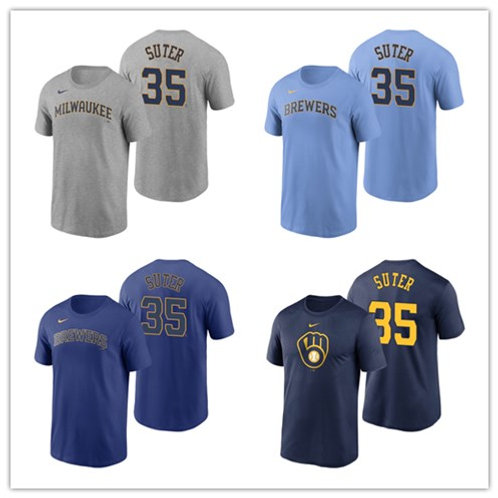 Men Brent Suter T-Shirt Gray, Light Blue, Royal Blue, Navy Blue