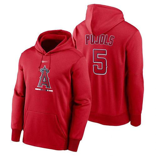 Men Albert Pujols Pullover Hoodie Red