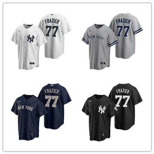 Men Clint Frazier 2020/21 Replica White, Gray, Navy Blue, Black