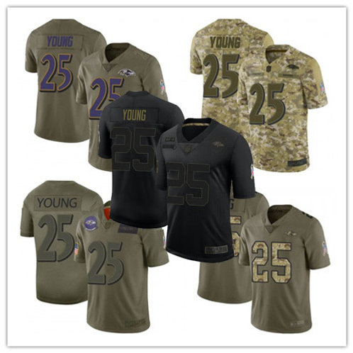 Youth Tavon Young Limited Salute to Service Olive, Camo, Black