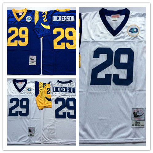 Men Eric Dickerson Throwback Royal and White