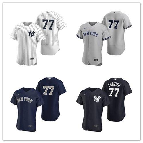 Men Clint Frazier 2020/21 Authentic White, Gray, Navy Blue, Black