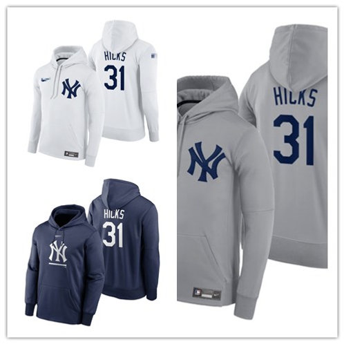 Men Aaron Hicks Pullover Hoodie White, Gray, Navy Blue