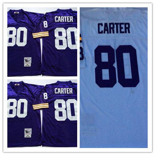 Men Cris Carter Throwback Purple, White