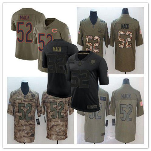 Youth Khalil Mack Limited Salute to Service Olive, Camo, Black