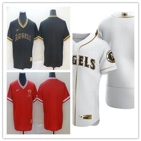 Men Balnk Cooperstown Red, White Golden, Black Golden