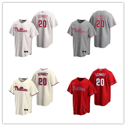 Youth Mike Schmidt 2020/21 Replica White, Cream, Red, Gray