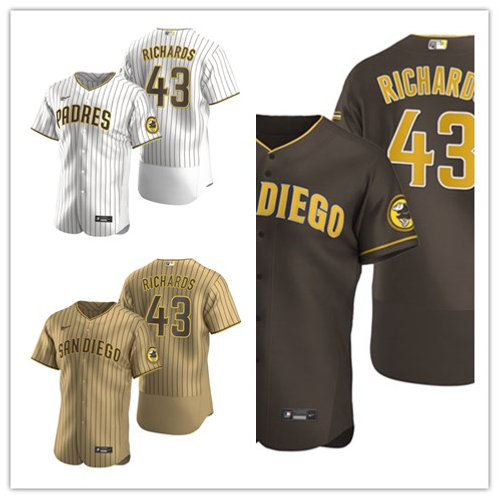 Men Garrett Richards 2020/21 Authentic White/Brown, Brown, Tan/Brown