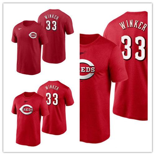 Men Jesse Winker T-Shirt Scarlet