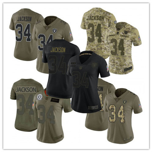 Women Bo Jackson Limited Salute to Service Olive, Camo, Black