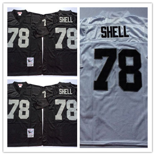 Men Art Shell Throwback Black, White