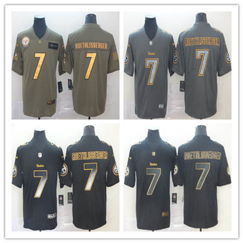 Men Ben Roethlisberger Limited Salute to Service Olive, Smoke, Golden