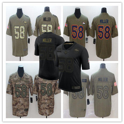 Youth Von Miller Limited Salute to Service Olive, Camo, Black