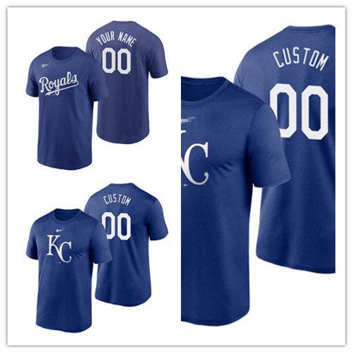 Men Custom T-Shirt Royal Blue