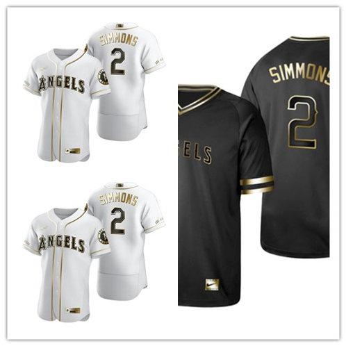 Men Andrelton Simmons White Golden, Black Golden