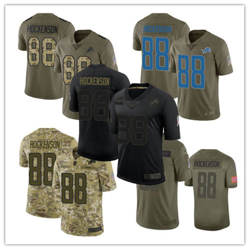 Youth T.J. Hockenson Limited Salute to Service Olive, Camo, Black