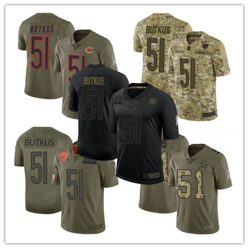 Men Dick Butkus Limited Salute to Service Olive, Camo, Black