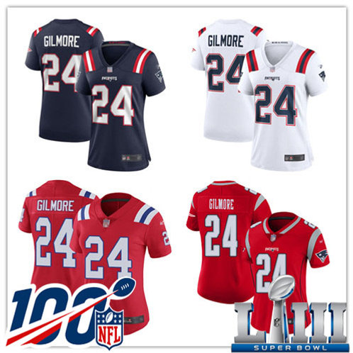 Women Stephon Gilmore Vapor Limited Navy Blue, White, Red, Inverted