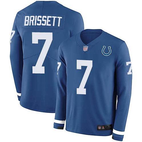Men Jacoby Brissett Blue Therma Long Sleeve