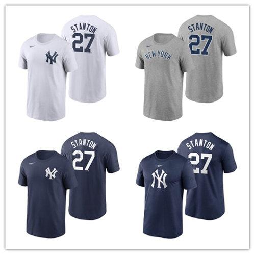 Men Giancarlo Stanton T-Shirt White, Gray, Navy Blue