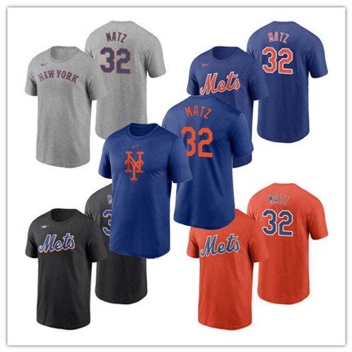 Men Steven Matz T-Shirt Gray, Royal, Black, Orange
