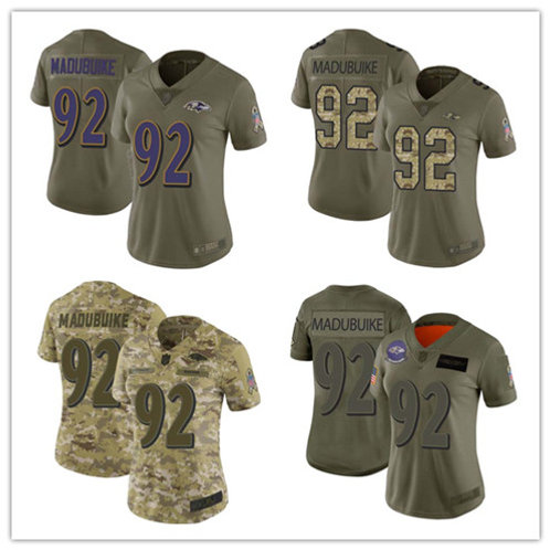 Women Justin Madubuike Limited Salute to Service Olive, Camo