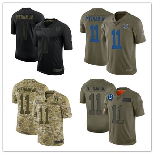 Youth Michael Pittman Jr. Limited Salute to Service Olive, Camo, Black