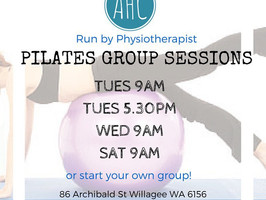 Pilates Group Sessions Feb 2016