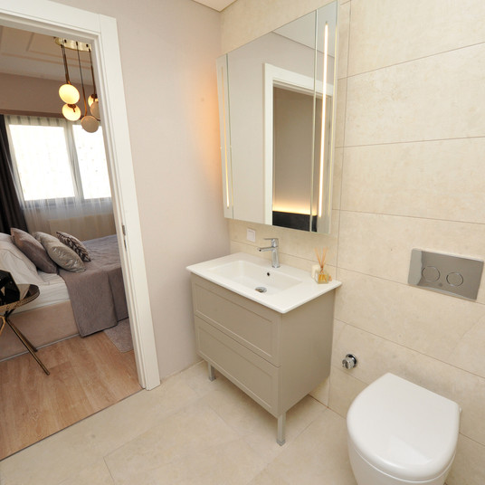 Toilet and Bedroom view