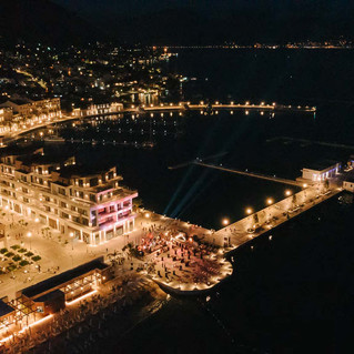 Drone image at night