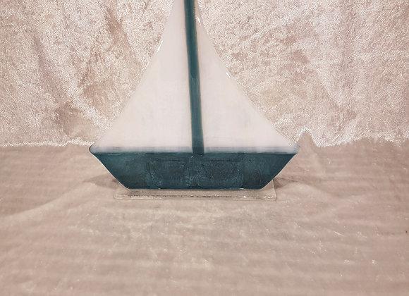 Seilbåt på glassplate.