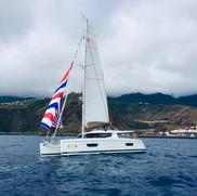 Stella Marie III, Fountaine-Pajot Hélia 44, départ La Palma