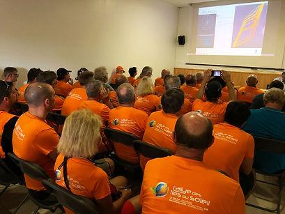 Briefing sécurité avant le départ du Rallye des Iles du Soleil