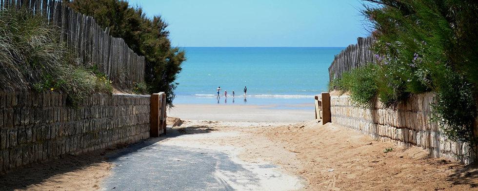 Vue plage Ile de Ré