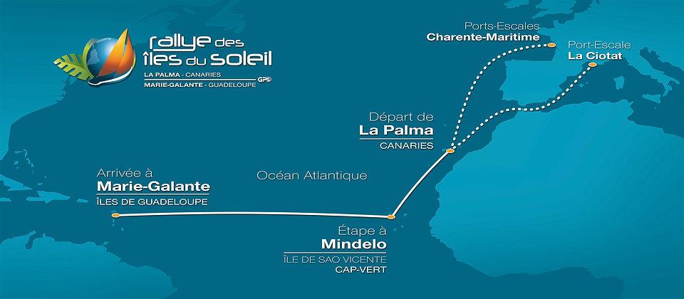 L'itinéraire du Rallye des Iles du Soleil