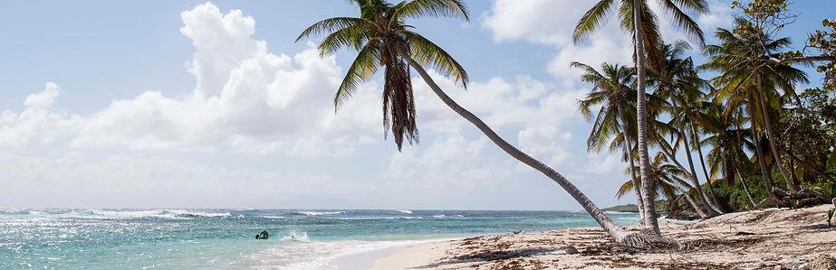 Plage de Marie-Galante, arrivée du Rallye des Iles du Soleil