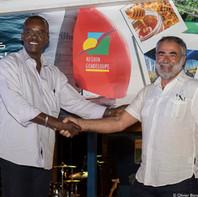 M. Ary Chalus, Président de la Région Guadeloupe et M. Pochon, Président de Grand Pavois Organisation