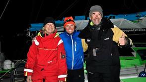 Miranda, Stan et Didier 4e de l'étape Horta / La Rochelle