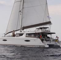 Anpelouza, Hélia 44 au départ de Marina Lanzarote