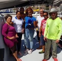 Watermusic, accueillis par le personnel de Marina Mindelo au Cap-Vert