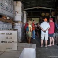 Visite de la distillerie Bielle, Marie-Galante