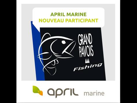 APRIL MARINE, INSCRIT AU GRAND PAVOIS FISHING 2018