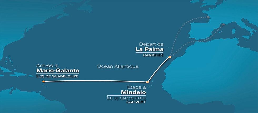 Parcours, Itinéraire du Rallye des Iles du Soleil