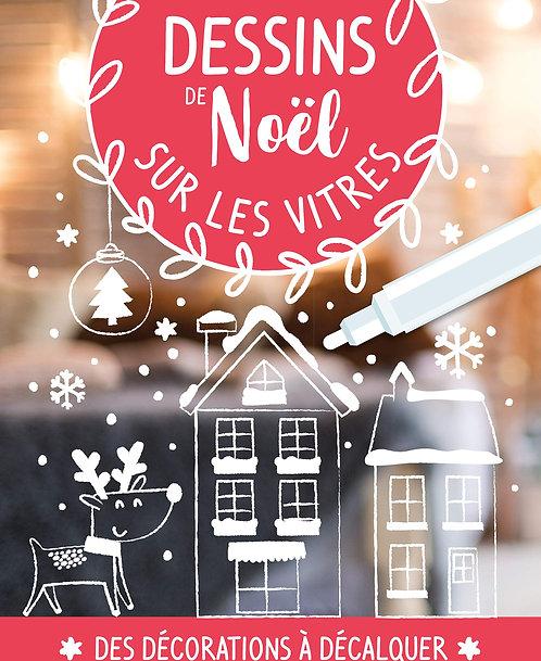 Dessins De Noël Sur Les Vitres - Avec 1 Feutre Craie -