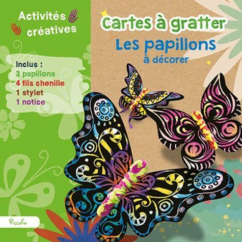 Cartes À Gratter Les Papillons À Décorer - Avec 3 Papillons - Piccolia