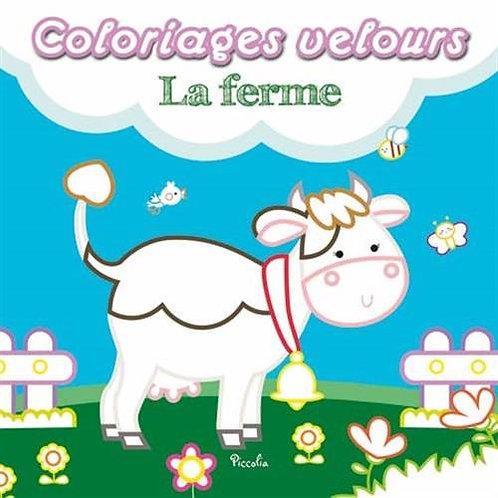 Coloriage Velours - La ferme - Editions Piccolia