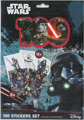100 Autocollants Et 12 Coloriages Star Wars -  Disney  - Piccolia  Jeunesse